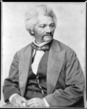 Frederick Douglass, respected abolitionist  and supporter of women's suffrage, 1870    [Library of Congress]