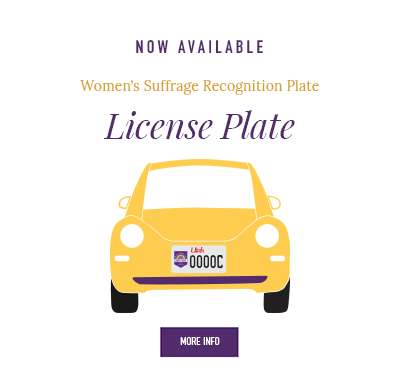 Now Available: Women's Suffrage Recognition Plate.