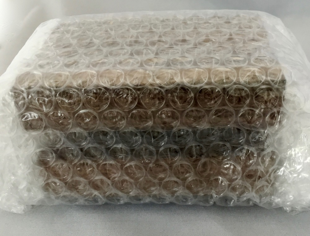 The Idea Dock comes wrapped in bubble wrap