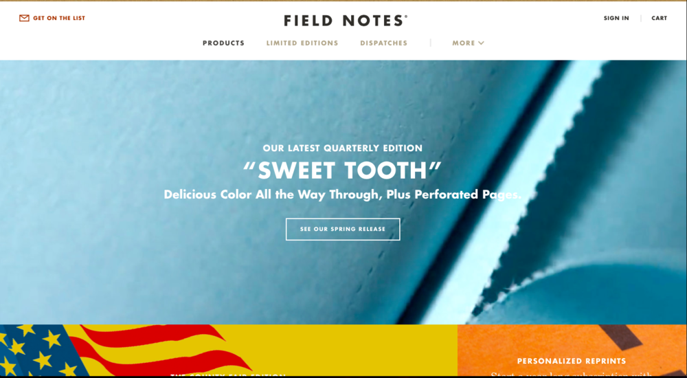 The new Field Notes website