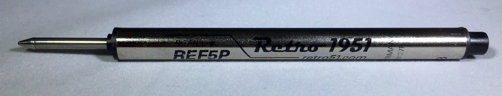The capless rollerball refill has a 0.7 mm tip.