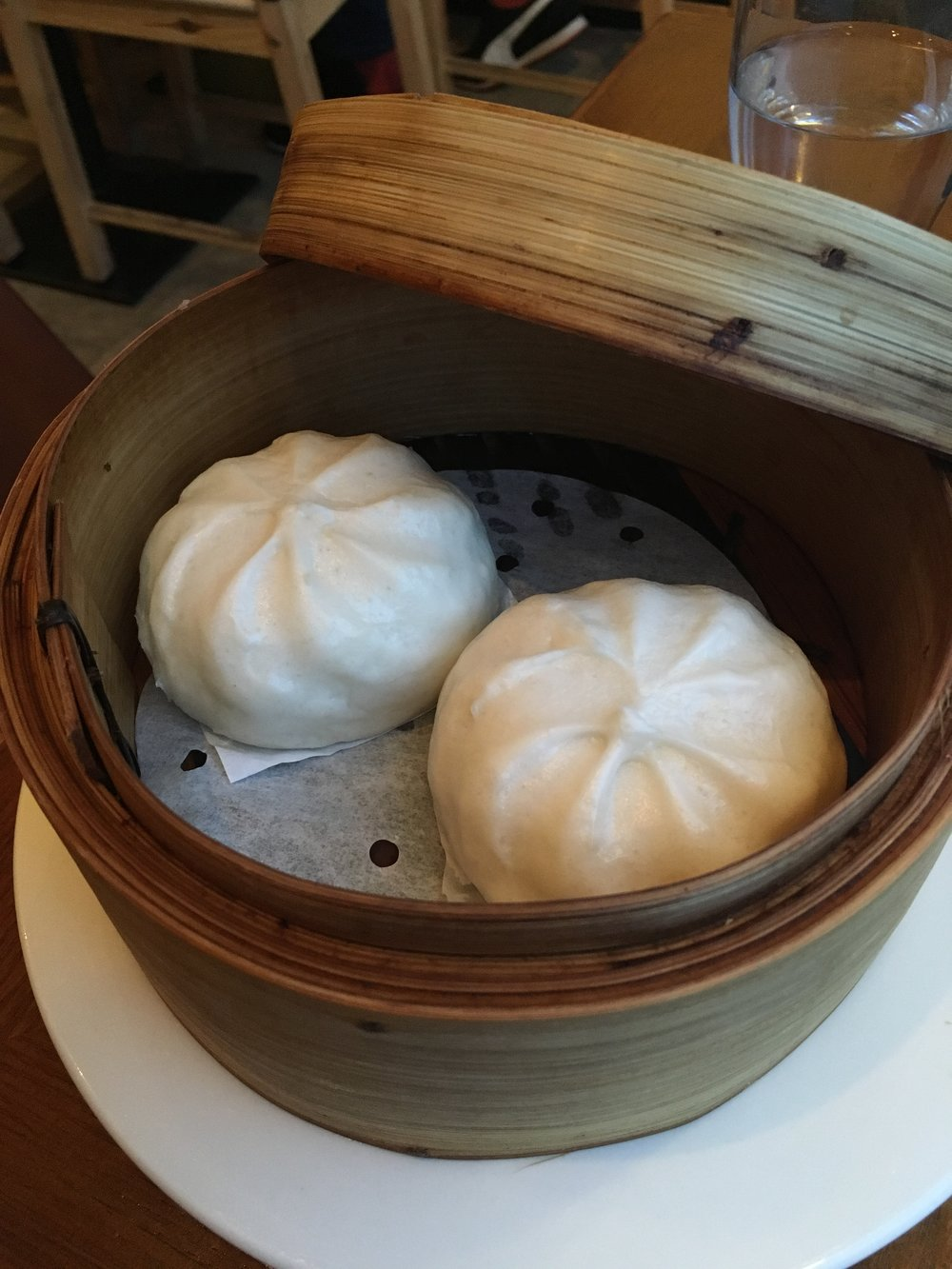 Steamed v  egetable buns (£2.95)