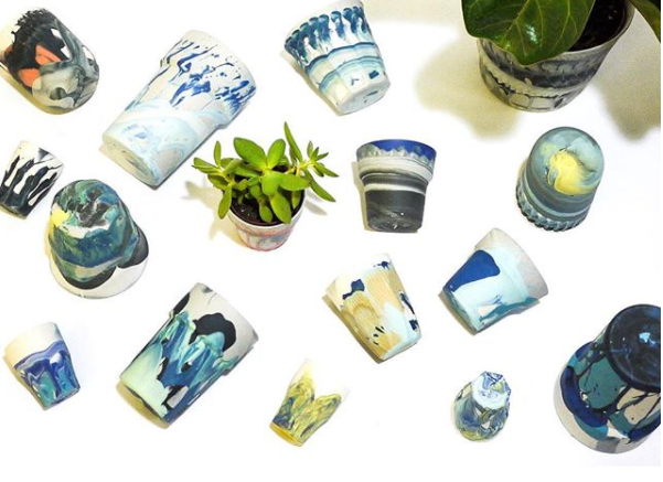 Dreamy marble effect ceramics | SouthEast15