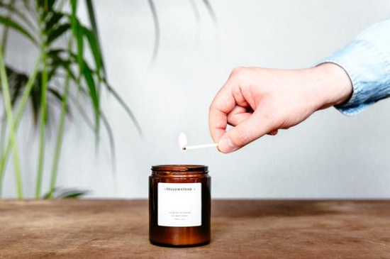 Tomato leaf and Basil and soy candle - £18