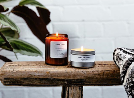 Soy candles, handmade in Peckham. Image; @fellowstead