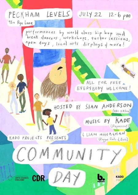 Peckham community day! Artwork by Alice Caiado