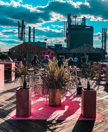 Peckham favourite, Bussey Rooftop bar, image: @busseyrooftopbar