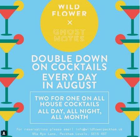 Wildflower, Peckham Levels drinks offers