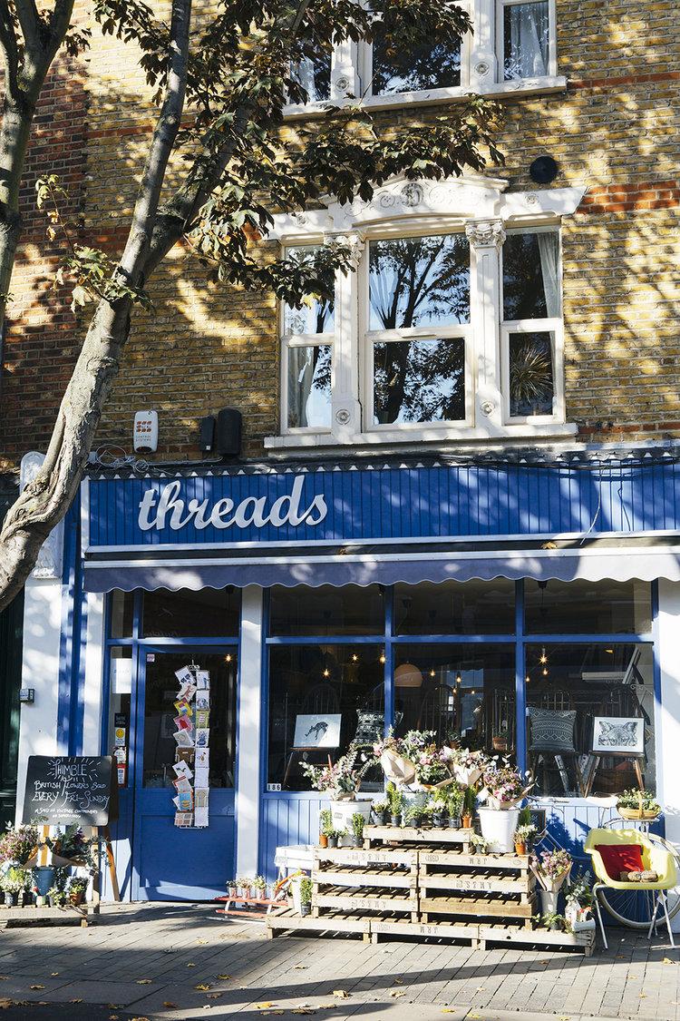 Threads vintage shop on Bellenden Road, Peckham. Image;  http://www.annaandtam.com