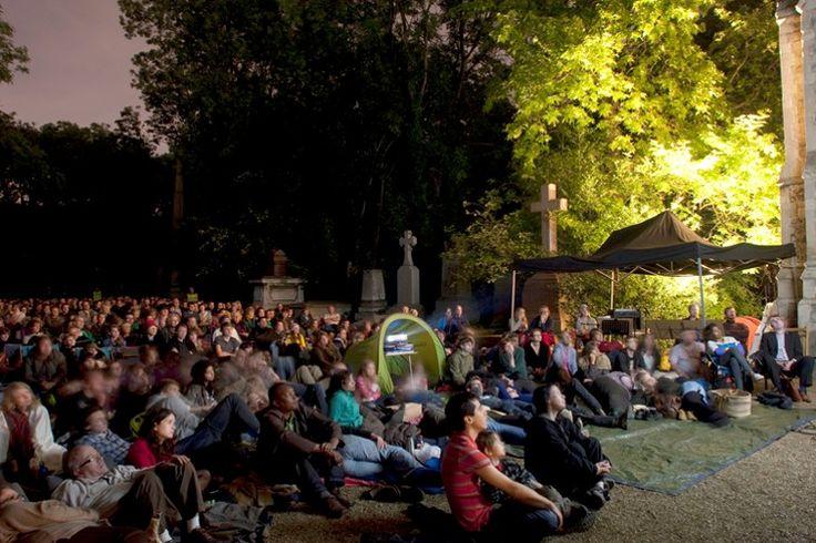 Peckham and Nunhead Free Film festival at Nunhead Cemetery. Image; www.freefilmfestivals.org