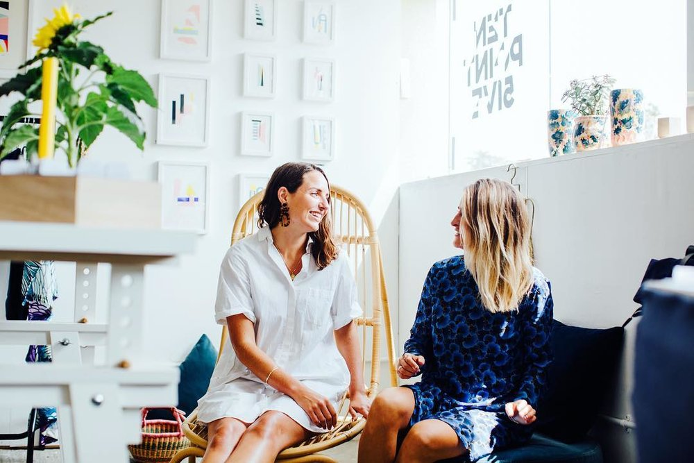 Flock founders Sophie and Claire promote local independent brands