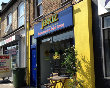 Jerkiz Caribbean restaurant in Nunhead. Image; theweekender.co.uk