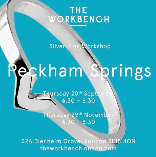 Ring making workshop at Peckham Springs