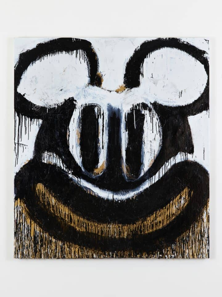 South London Gallery; Joyce Pensato,  Black and White Mickey , 2018