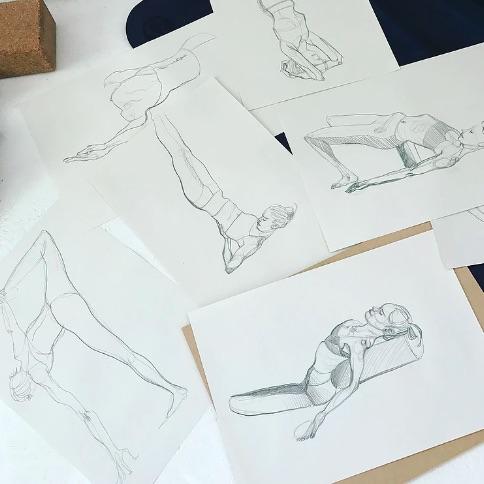 Yoga life drawing classes at Yogarise in Peckham. Image:www.yogalifedrawing.com