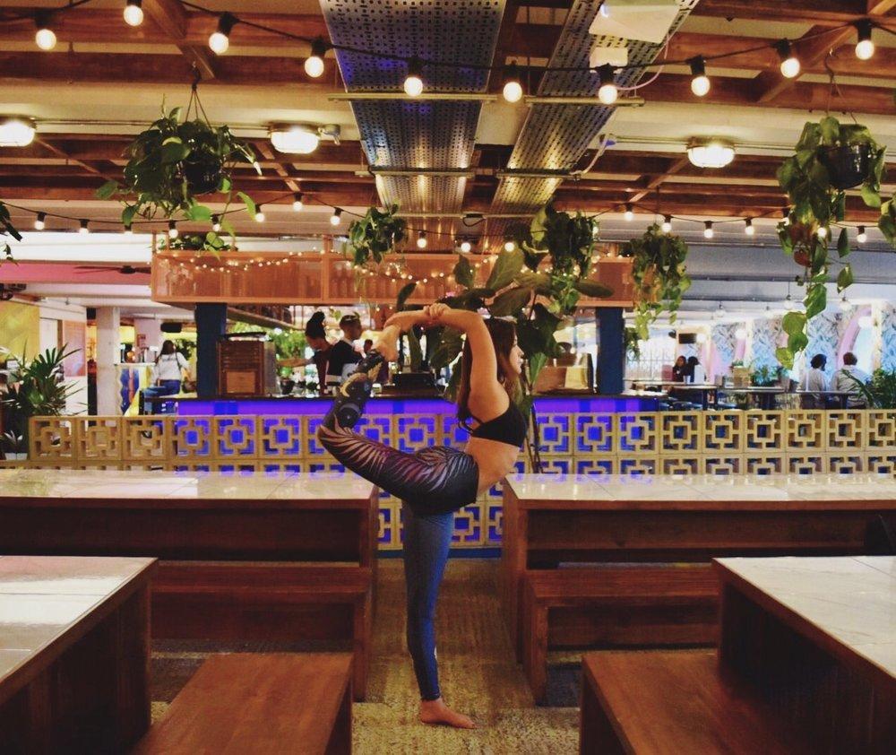 Yoga brunch at Peckham Levels