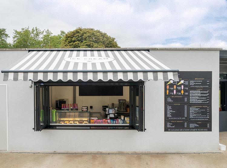 Peckham Rye park ice cream parlour