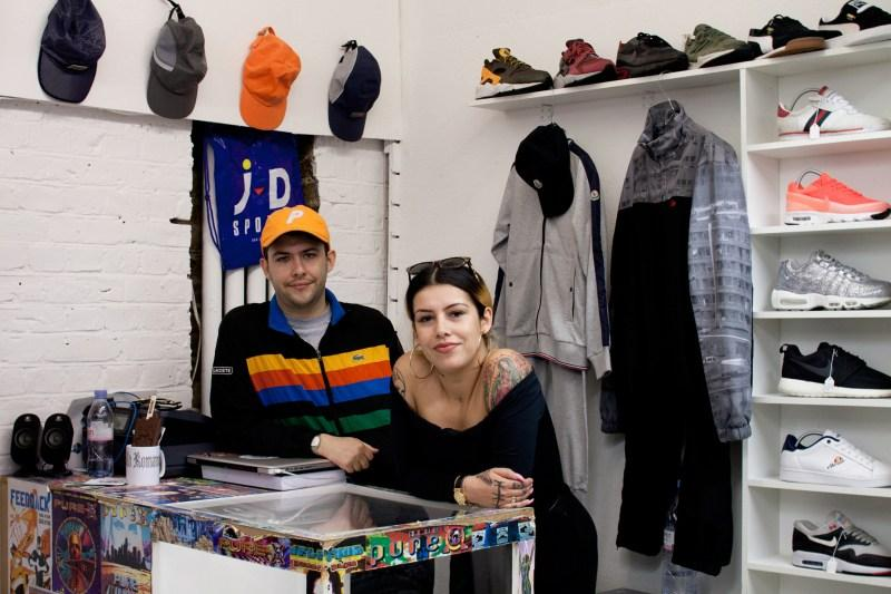Wavey Garms co founders in their Peckham shop. Image cred: waveygarms.com