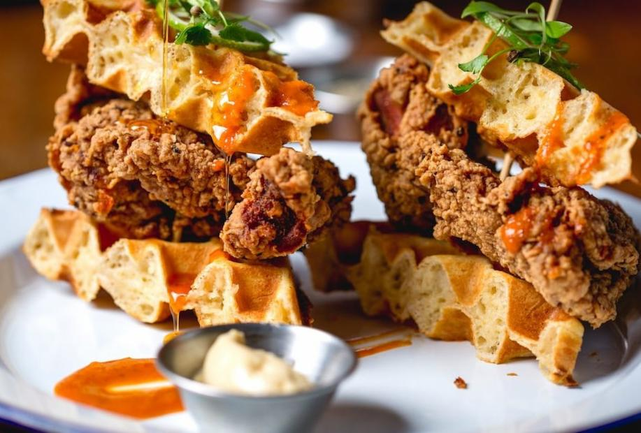 Prince of Peckham chicken wing and waffle brunch. Image; Prince of Peckham