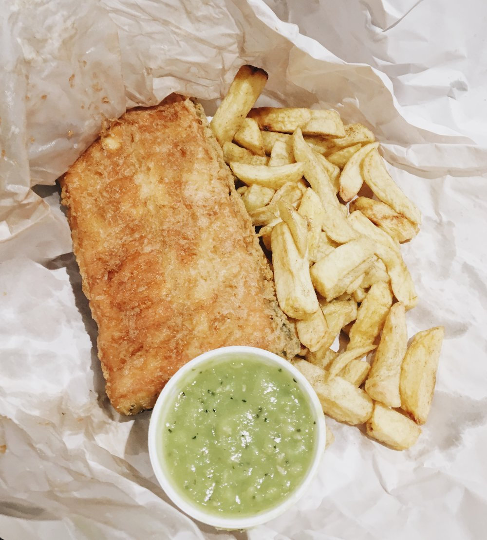 Vegan 'tofish' fish and chips from Codfellas in Peckham