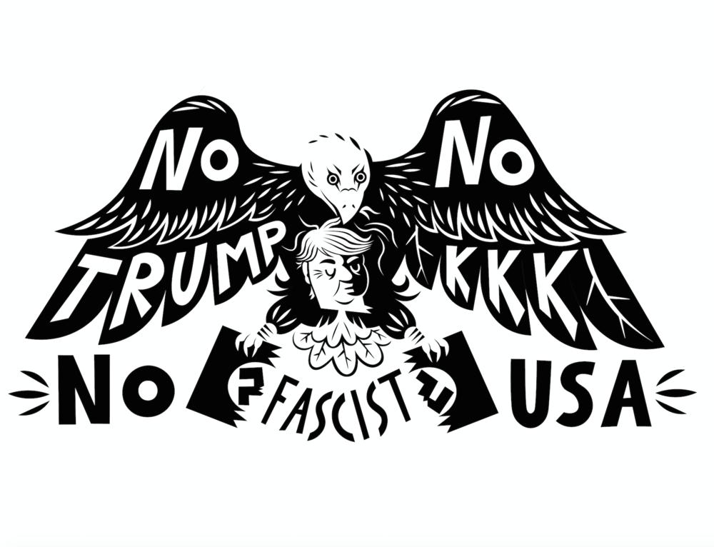 No Trump, No KKK, No Fascist USA