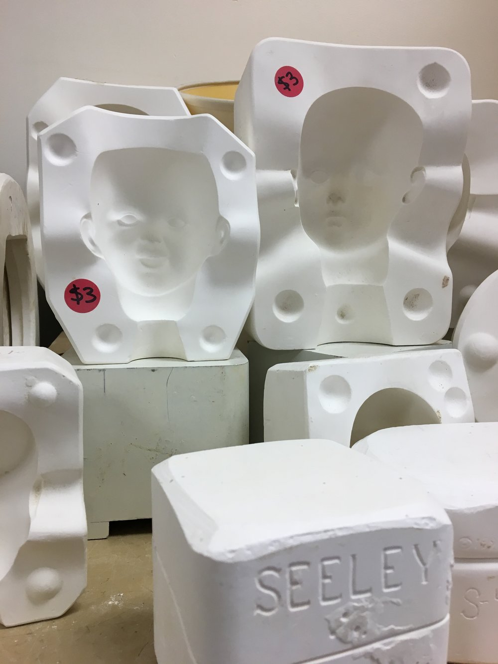 Doll head molds