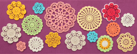 There's no doubt math and science are at play in crocheted doilies.