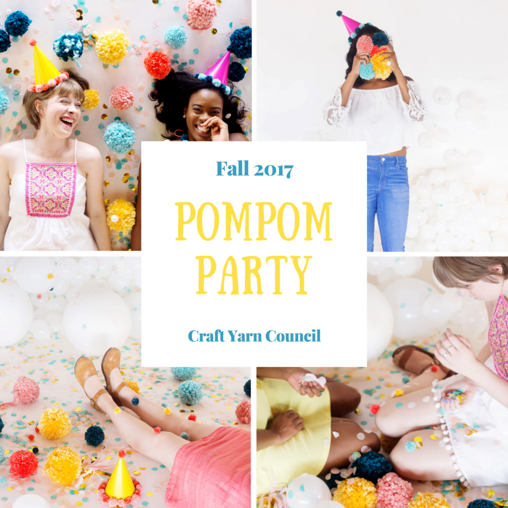 Pompoms are super popular in fashion right now, so why not make a few... hundred.