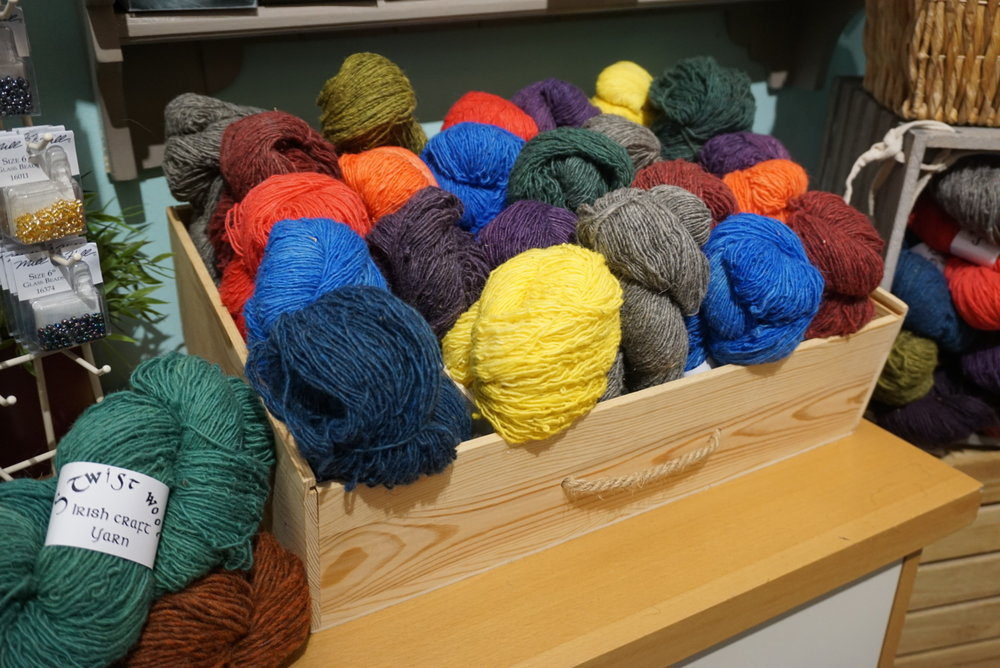 Some of the wool from S Twist Wool available at This is Knit. Is that bright yellow dyed from potato tops?
