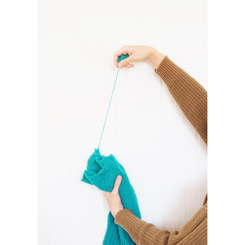 Unraveling yarn