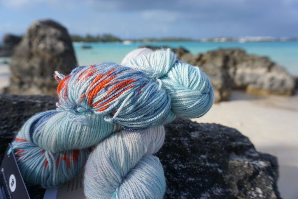 hand-dyed yarn in bermuda