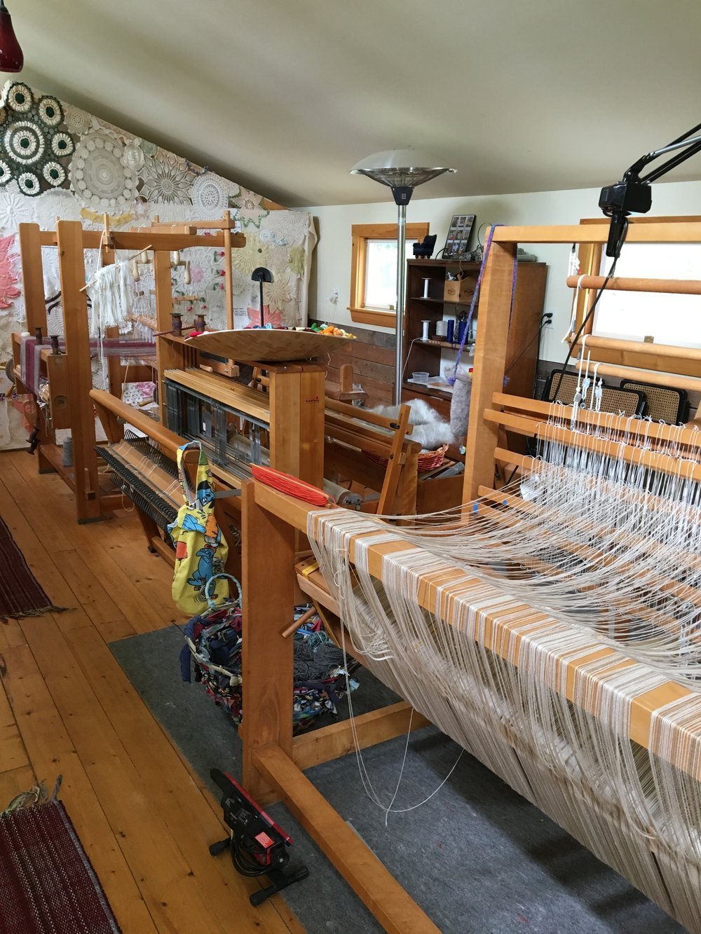 The loft for visiting artists and weaving instruction.