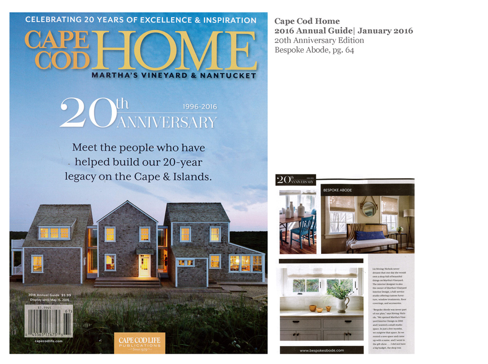 Cape Cod Home,  20th Anniversary Guide