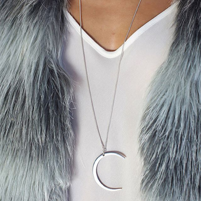 Getting ready for holiday shopping? How about an IA+ silver or gold crescent necklace? . . . . #crescentnecklace #silver #goldplated #minimal #industrialjewelry #iaplus #tinypiecesofhistory