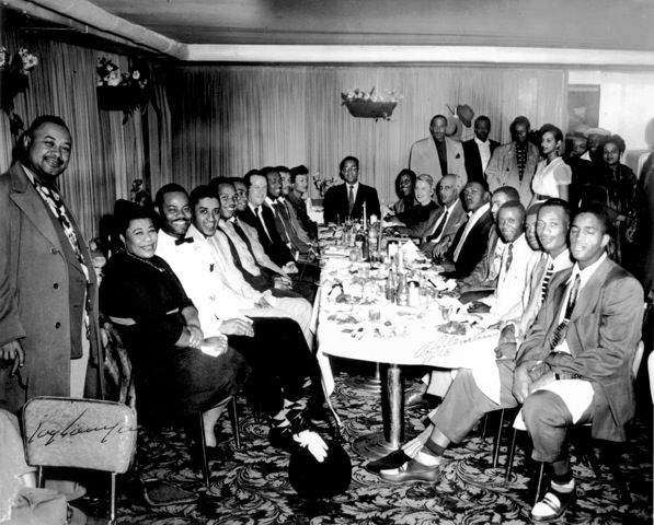 Ella Fitzgerald and Fillmore celebrants in the 1950s. Courtesy the Red Powell/Reggie Pettus Collection. From this article.