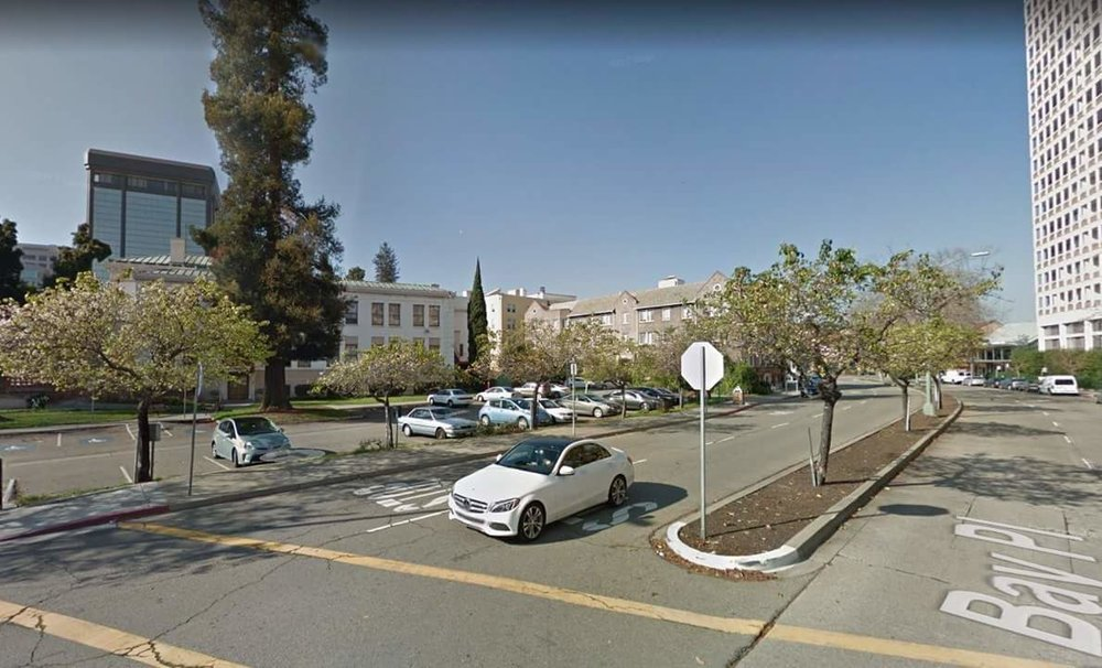 View from Bay Place corner Montecito Avenue.