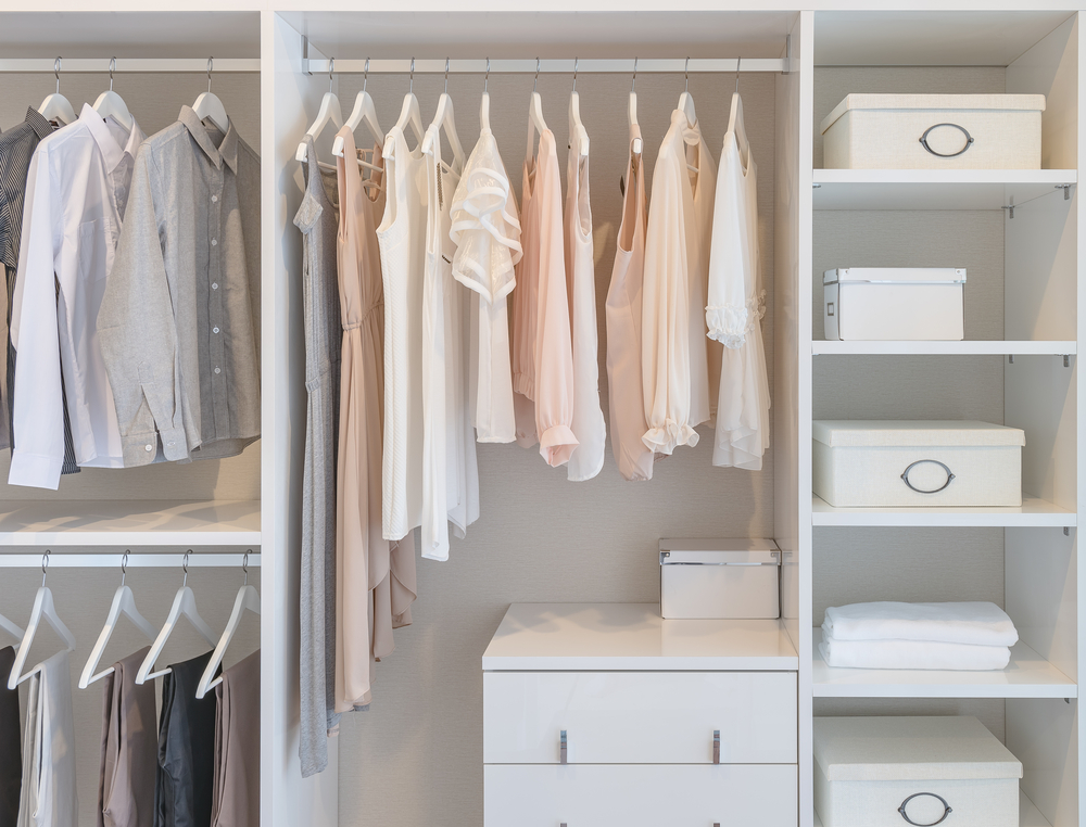home organization organized closet