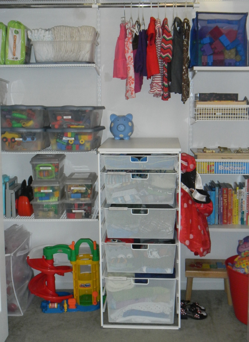 The Closet My Children Shared When They Were 1 And 3. The Elfa Closet System