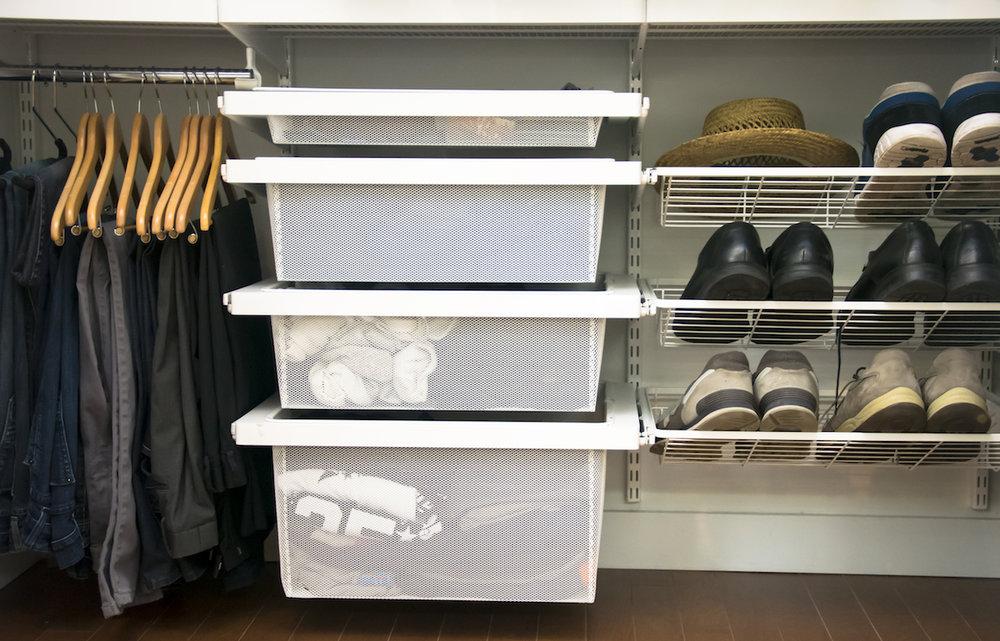 My husband's closet.