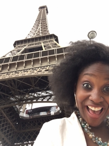 Who cares about my hair? I am in PARIS watching the French team win a Euro game at the Eiffel Tower!