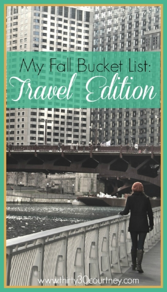 If you are anything like me, you are not looking forward to autumn being here and summer being gone.  However, let's put a positive spin on it and have fun by creating a fall bucket list.  Of course, mine is the travel ediition!