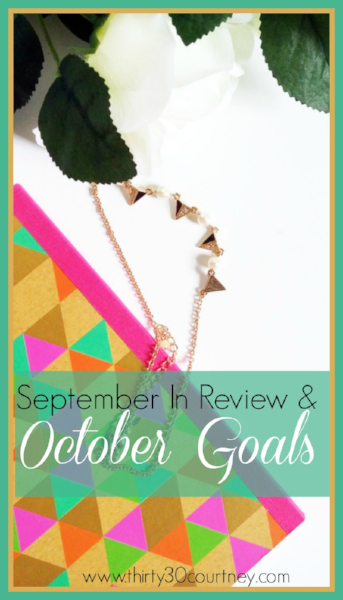 What are some of your goals for October 2016?  I didn't do as much as I wanted to for September 2016 so I can really going to lean in and focus on accomplishing the items I have listed in this blog post.
