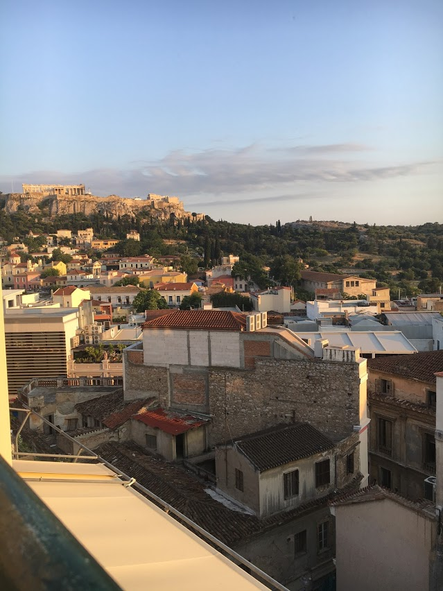 Check out the view from my hostel's rooftop bar!