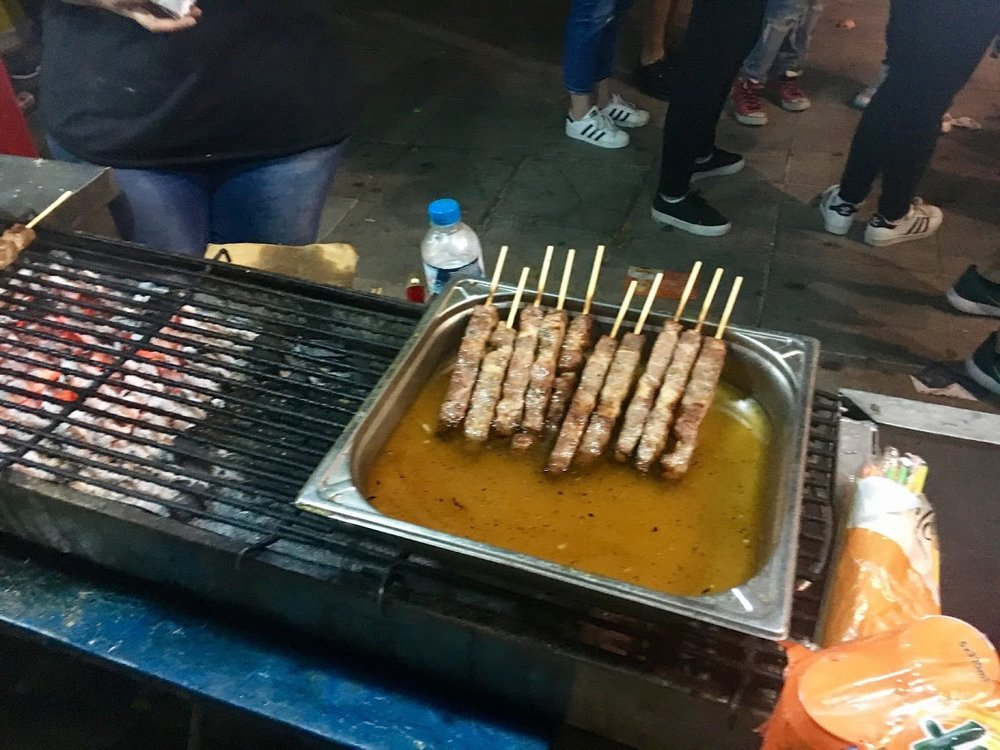 Street food during the PRIDE festival in Athens.