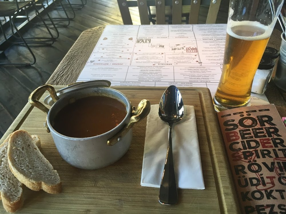 Goulash soup at Bestia