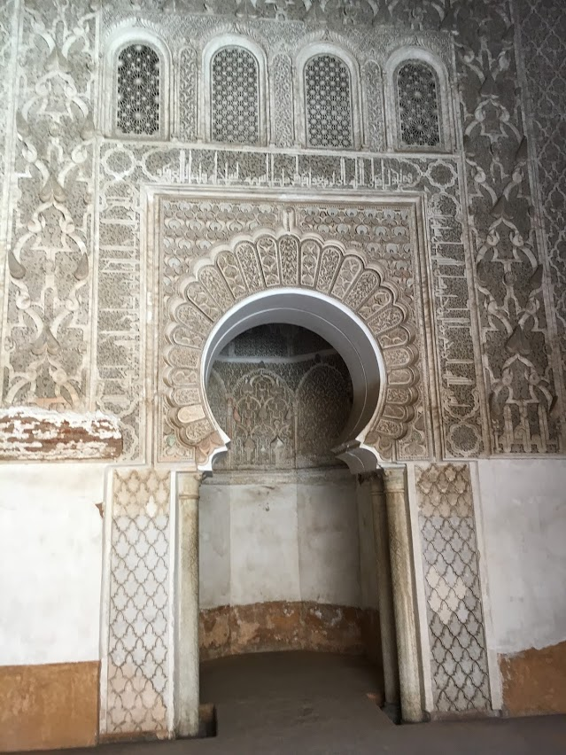 Inside the Ben Youssef Madrasa building.