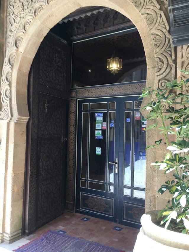 The entrance into Riad Mimouna.