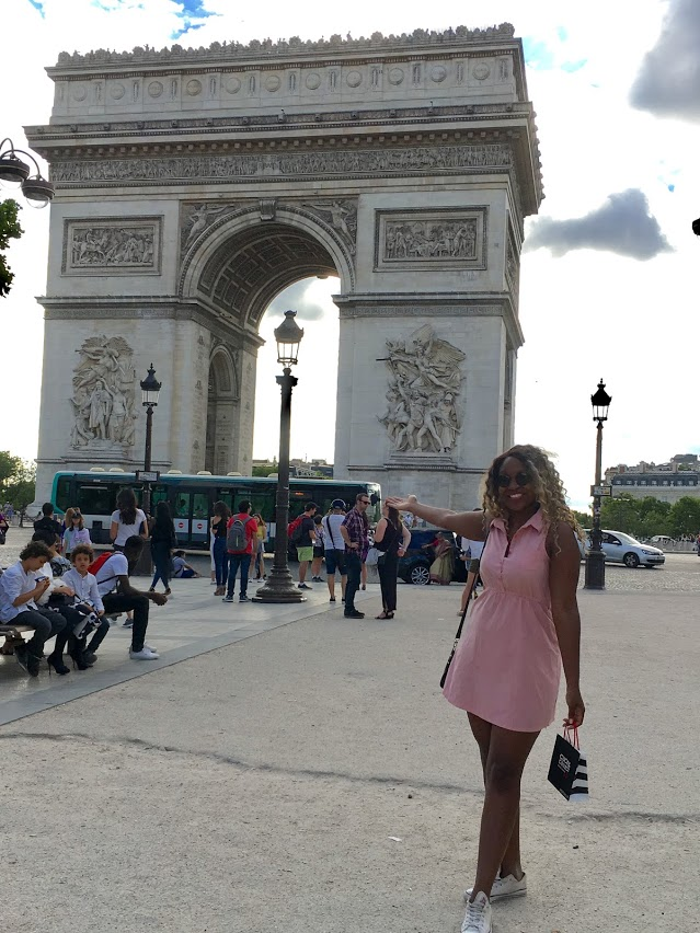 Somehow, someway I didn't visit the Arc du Triomphe last year.   June 2017