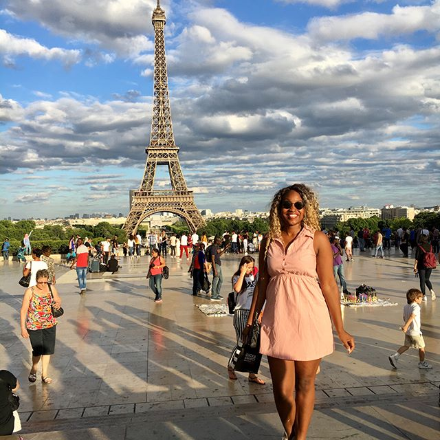 I don't care how old I get or how many times I go, when I get to Paris, I'm seeing the Eiffel. Prayerfully, it becomes a yearly tradition as I'm going two years strong. 🇫🇷 * I do it for the little black girl from Jersey who daydreamed about visiting France but never knew if she could. I do it for the woman that's afraid of traveling alone and might not ever take the leap. I do it for my goddaddy so I can take the picture and remind him of the places he's traveled while serving in the Air Force. I do it to remind others that they're going to get this black girl magic whether they were ready or not. ✨ * I've got two new posts on the blog this week but one is personal to me. If you want to know my itinerary for my four-night stay, I've got you. If you want to know just -why- I love Paris so much and what life lessons she has taught me, I've got that too. I'd love to know your thoughts and have a conversation so the first step is visiting the blog (link in bio) and we can go from there. Blessed Wednesday, travelers. Make it great. 💕