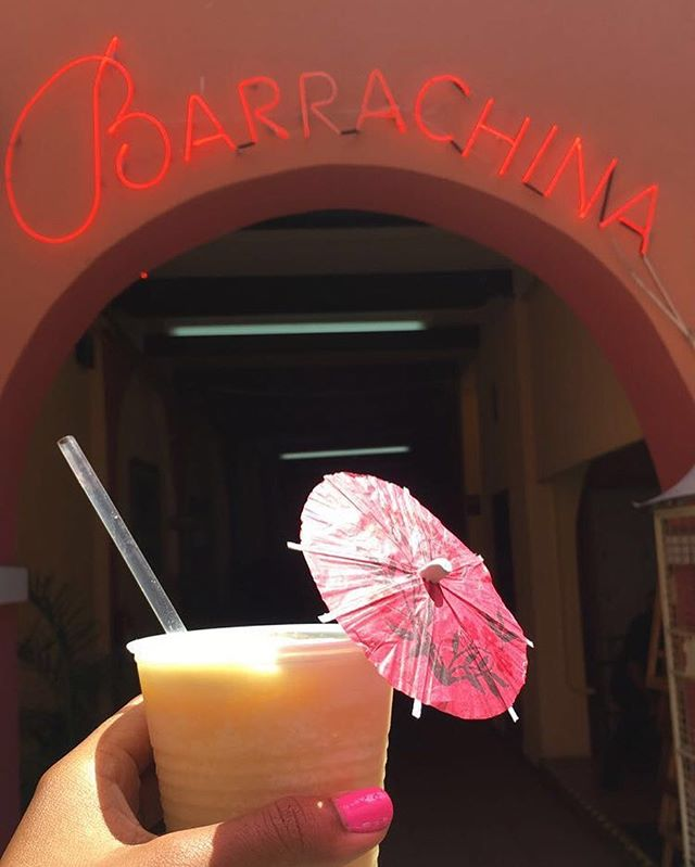 It feels SO good to be back. Barrachina is the home of the Piña Colada and so naturally, I do what I do. Cheers!